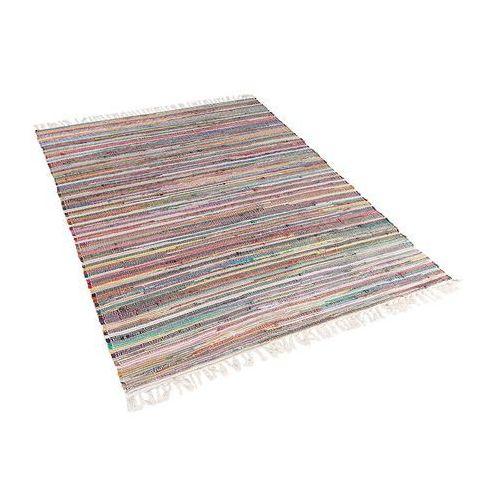 Beliani Dywan jasnokolorowy 140x200 cm krótkowłosy - chodnik - bawełna - danca (7081457192855)