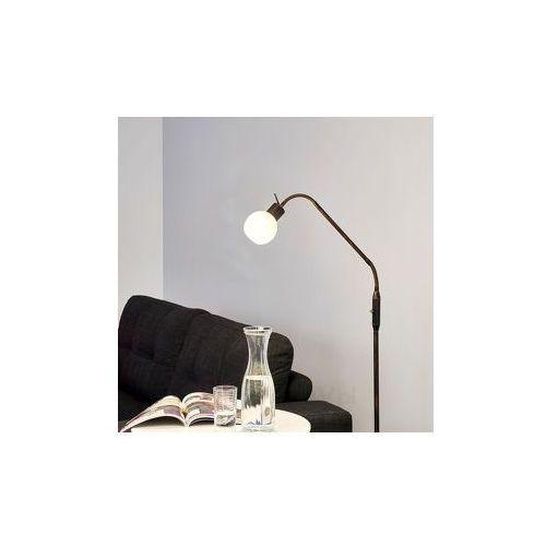 Lampenwelt Lampa stojąca led elaina w stylu dworkowym, rdzawa