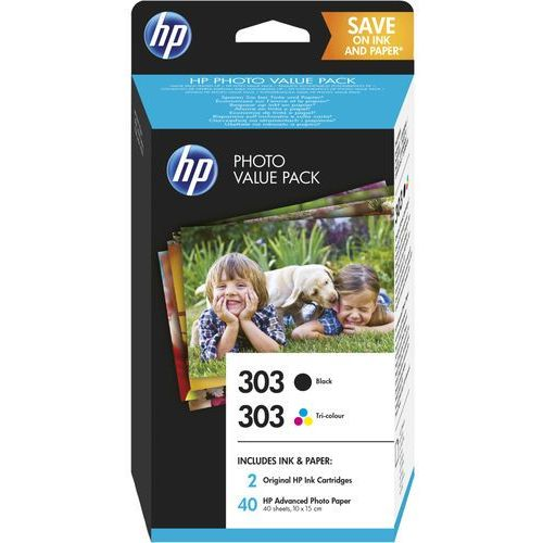 HP 2 x tusz: Black 303, T6N02AE + Color 303, T6N01AE, Z4B62EE