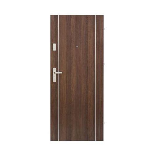 Drzwi wejściowe IRYD 02 Orzech premium 90 Prawe DOMIDOR (5907479330322)