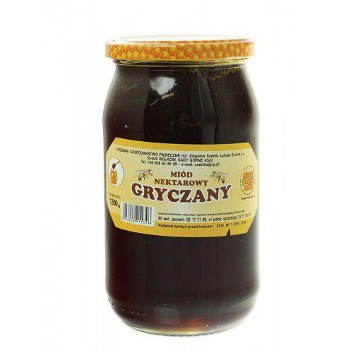 Miód gryczany nektarowy 1200g Rodzinna Pasieka Sudnik