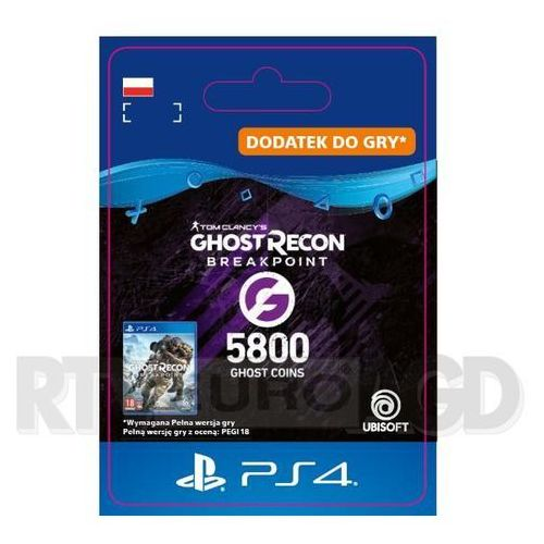 Sony Tom clancy's ghost recon: breakpoint 5800 ghost coins [kod aktywacyjny] ps4