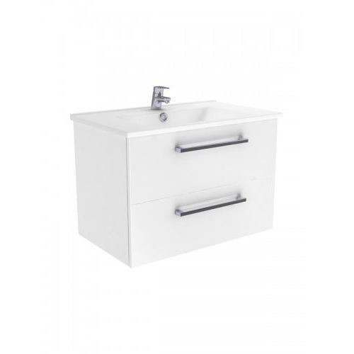 New Trendy Fargo szafka wisząca + umywalka biały połysk 75 cm ML-AR075