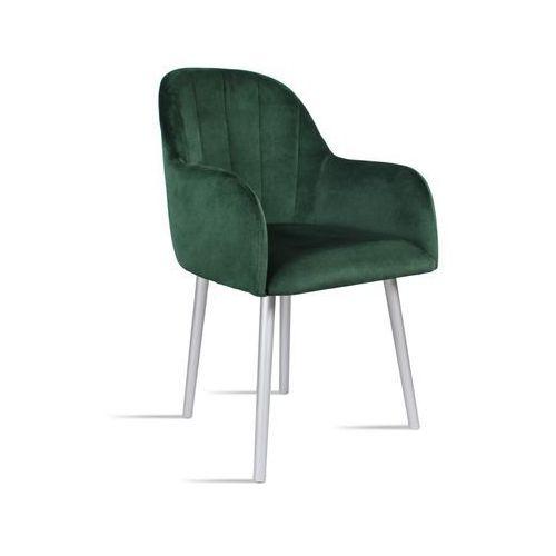 Krzesło BESSO zielony/ noga silver/ SO260