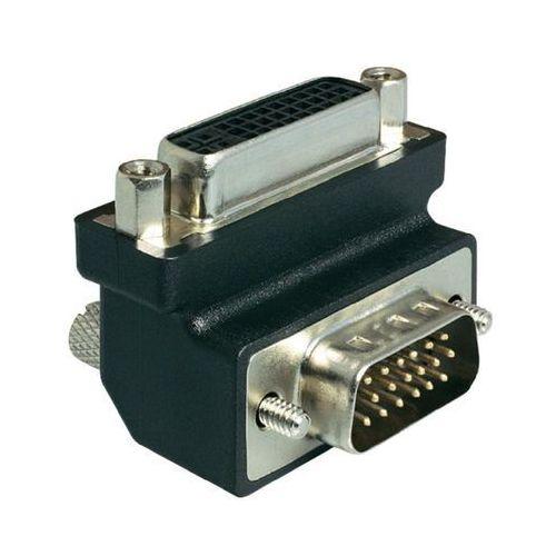 Przejściówka, adapter kątowy DVI, VGA Delock 1937074, [1x Złącze żeńskie DVI 29-pin - 1x Złącze męskie VGA ] z kategorii Akcesoria do TV
