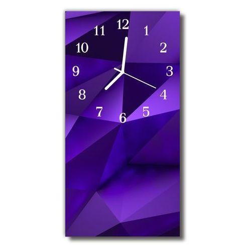 Zegar szklany pionowy grafika 3d przestrzenny nowoczesny marki Tulup.pl