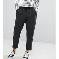 wide leg cropped jersey trouser in charcoal - grey marki Noak