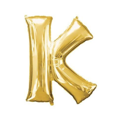 Amscan Balon foliowy złota litera k - 66 x 83 cm - 1 szt.