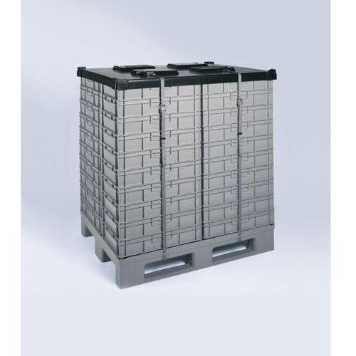 Pokrywa, 800x1200 mm, z pasem. do zabezpieczania pojemników w transporcie i maga marki Schoeller allibert