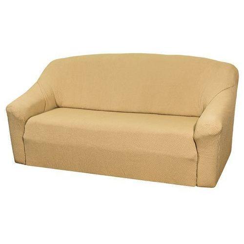 pokrowiec multielastyczny na kanapę, beżowy elegant, 180 - 220 cm, 180 - 220 cm marki 4home