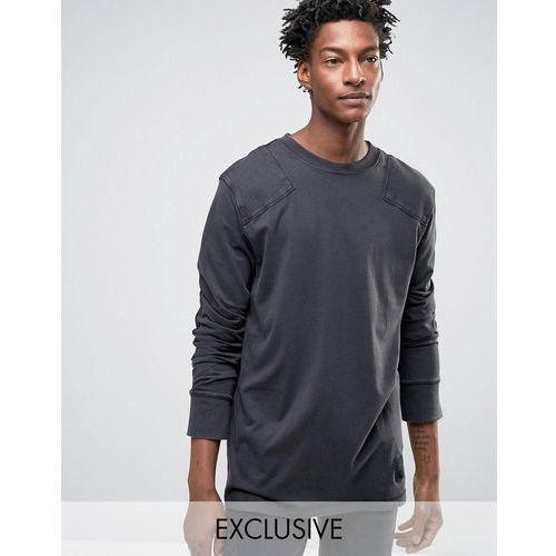 Cheap Monday Yard Long Sleeve T-Shirt Used Wash - Black