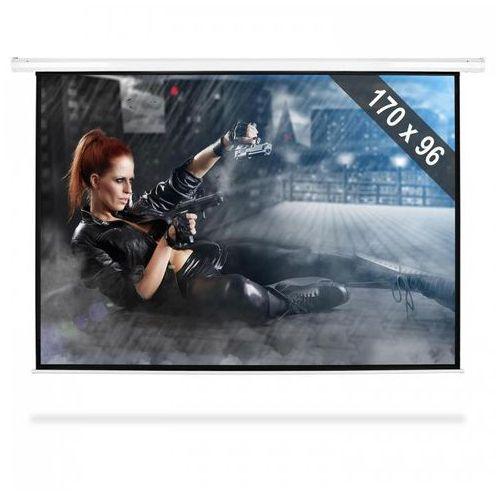"""FrontStage Moto-77169 elektryczny ekran projekcyjny rozwijany 206x115cm 77"""" 195cm 16:9 (4260365798226)"""