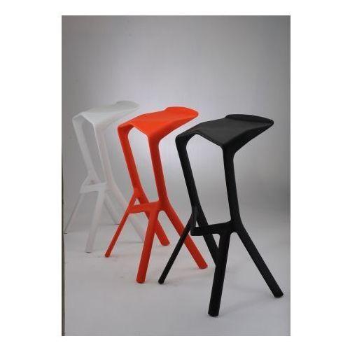 D2 0903 stołek barowy miura biały, czarny, czerwony