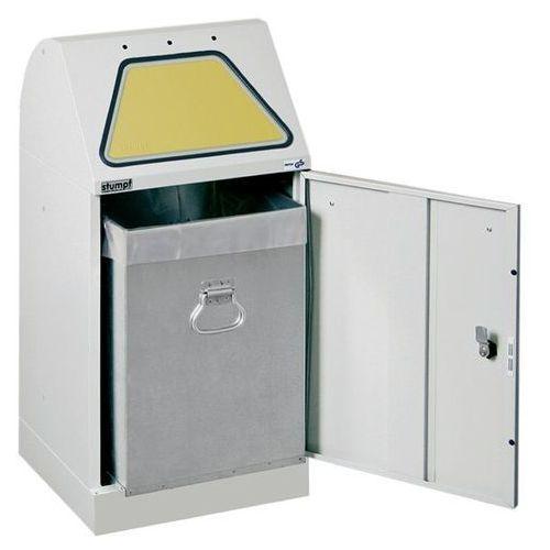 Systemowy pojemnik na surowce wtórne, klapa wrzutowa, uruchamiana ręcznie, ze zb marki Stumpf-metall