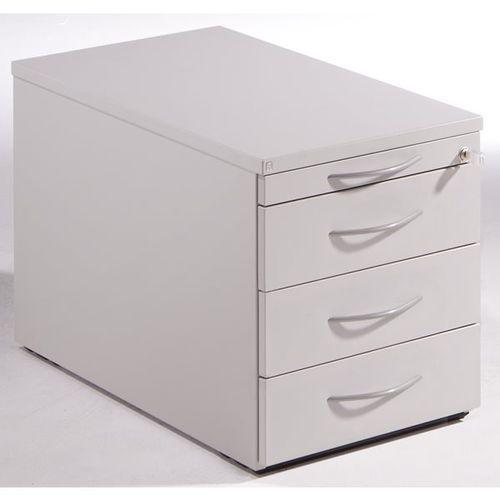 THEA - Kontener na kółkach, szuflada na przybory, 3 szuflady na dokumenty, jasno