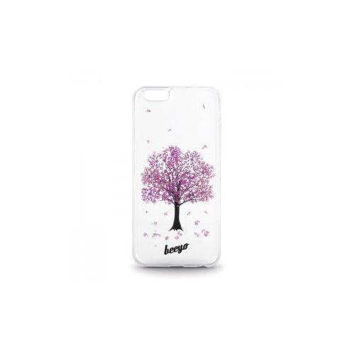 Silikonowa nakładka etui beeyo Blossom do iPhone 6/6s transparentna + fioletowa - produkt z kategorii- Futerały i pokrowce do telefonów