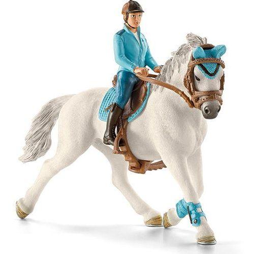 Schleich model dżokeja na koniu