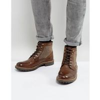 military boot with tweed detail - brown, Dune