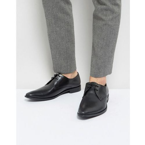 Frank Wright Derby Shoes In Black Leather - Black