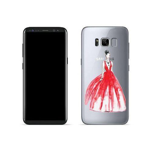 Etuo crystal design Samsung galaxy s8 - etui na telefon crystal design - pastelowa czerwień