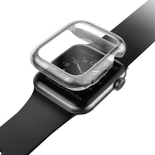 etui garde apple watch series 5/4 44mm szary/smoked grey - szary marki Uniq