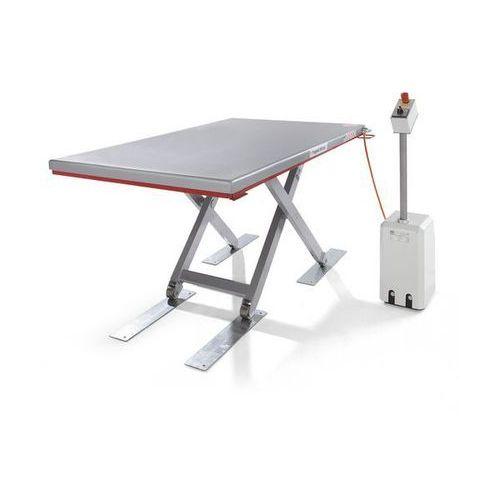 Płaski stół podnośny, seria g, nośność 500 kg, zakres podnoszenia 80 - 750 mm, d marki Flexlift hubgeräte