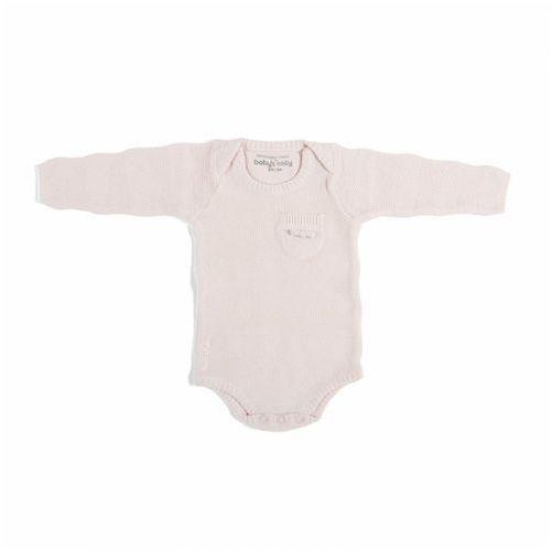 Baby's only , body tkane w prążki z długim rękawem, różowe, rozmiar 68