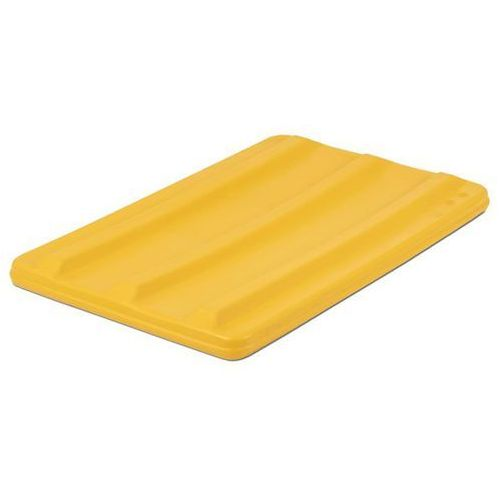 Vectura behältermanagement Pokrywa, do pojemników 135 l, żółty.