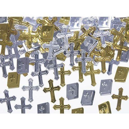 KONFETTI METALIZOWANE KOMUNIJNE KRZYŻE I KSIĘGI 15g