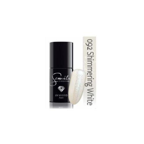 Semilac lakier hybrydowy 092 Shimmering White, transparentny, 7ml