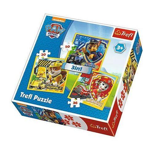 Trefl puzzle 3w1 psi patrol - marshall, rubble i chase
