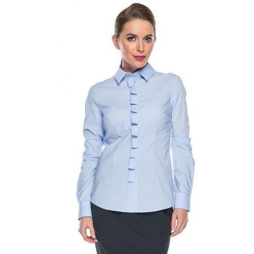 Błękitna koszula pionową listwą - Duet Woman, kolor niebieski