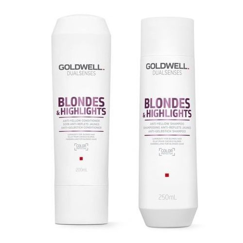 Goldwell Blondes and Highlights zestaw do włosów blond   Szampon 250ml, Odżywka 200ml