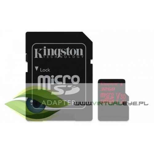 Kingston microSD 32GB Canvas React 100/70MB/s adapter U3 UHS-I V30 A1 (0740617276213)