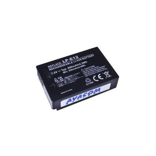 Baterie do kamer wideo / fotoaparatów dla canon lp-e12 li-ion 7,4v 600mah (dica-lp12-345) marki Avacom
