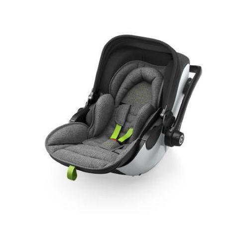fotelik samochodowy evoluna i-size 2 + isofix baza 2 grey melange super green marki Kiddy