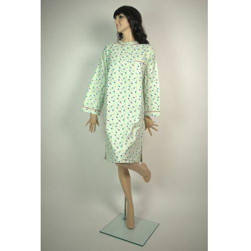 Koszula Nocna Klasyczna Flanelowa 2 SELEDYN M-XXL z kategorii Pozostała moda i styl