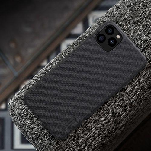 Nillkin Super Frosted Shield wzmocnione etui pokrowiec + podstawka iPhone 11 Pro Max czarny, kolor czarny