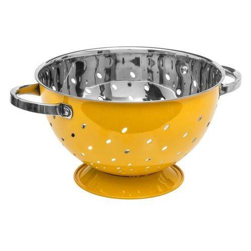 Durszlak ze stali nierdzewnej - kolor żółty, Ø 25 cm (3560234520158)