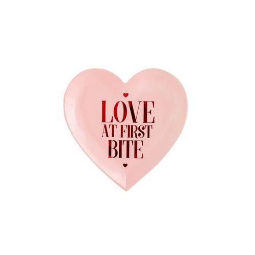 Talerzyki różowe Love at first bite - 18,5 cm - 6 szt. (5902230776173)
