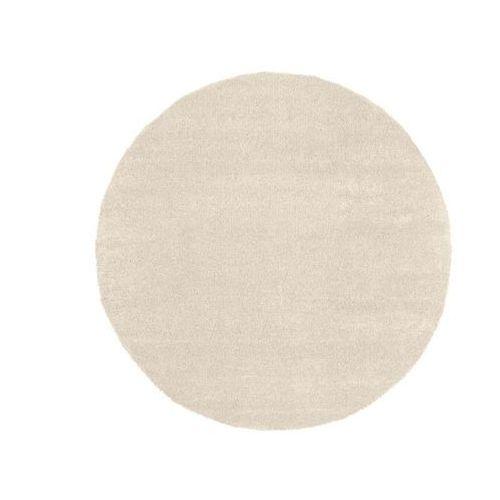 Dywan typu shaggy hedwige, okrągły, jednokolorowy – 100% polipropylen – śr. 240 cm – kolor beżowy marki Vente-unique
