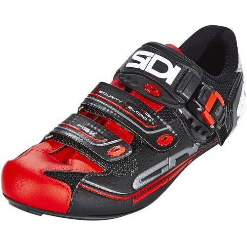 genius 7 buty mężczyźni czerwony/czarny 44,5 2018 buty szosowe zatrzaskowe marki Sidi