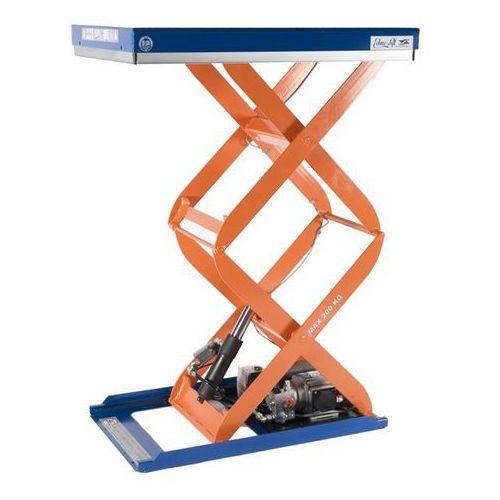 Kompaktowy stół podnośny, stacjonarny, udźwig 200 kg, dł. x szer. platformy 900x