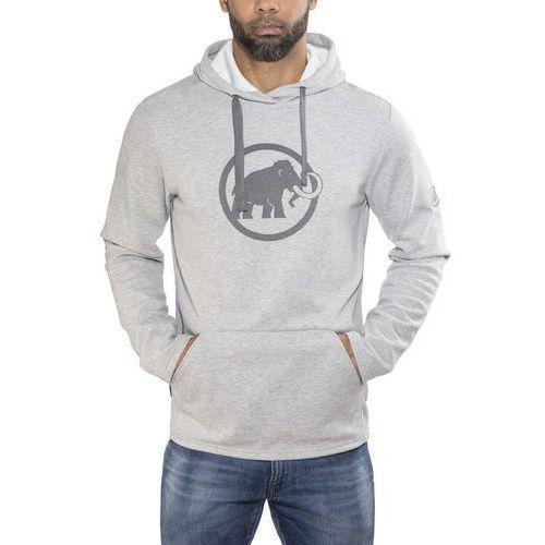 Mammut logo hoody men bluza z kapturem granit melange/titanium (7613357132442)