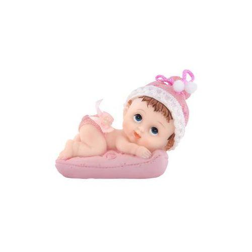Figurka - Dziewczynka z różową poduszką - 9,5 cm