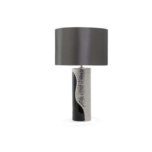 Lampka nocna porcelanowa czarno-srebrna aiken marki Beliani