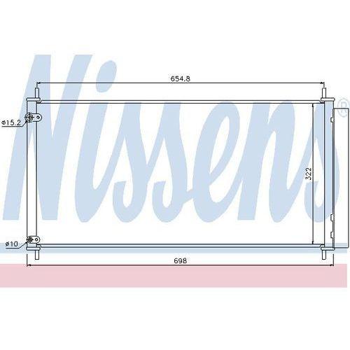 Skraplacz, klimatyzacja NISSENS 940036