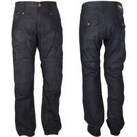 Męskie jeansowe spodnie motocyklowe roadsign, czarny, 42/xxl marki W-tec
