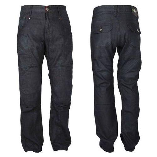Męskie jeansowe spodnie motocyklowe W-TEC Roadsign, Czarny, 36/M