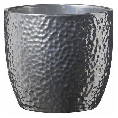 Osłonka doniczki SK Soendgen Keramik Boston śr. 19 cm srebrna (4006063252178)